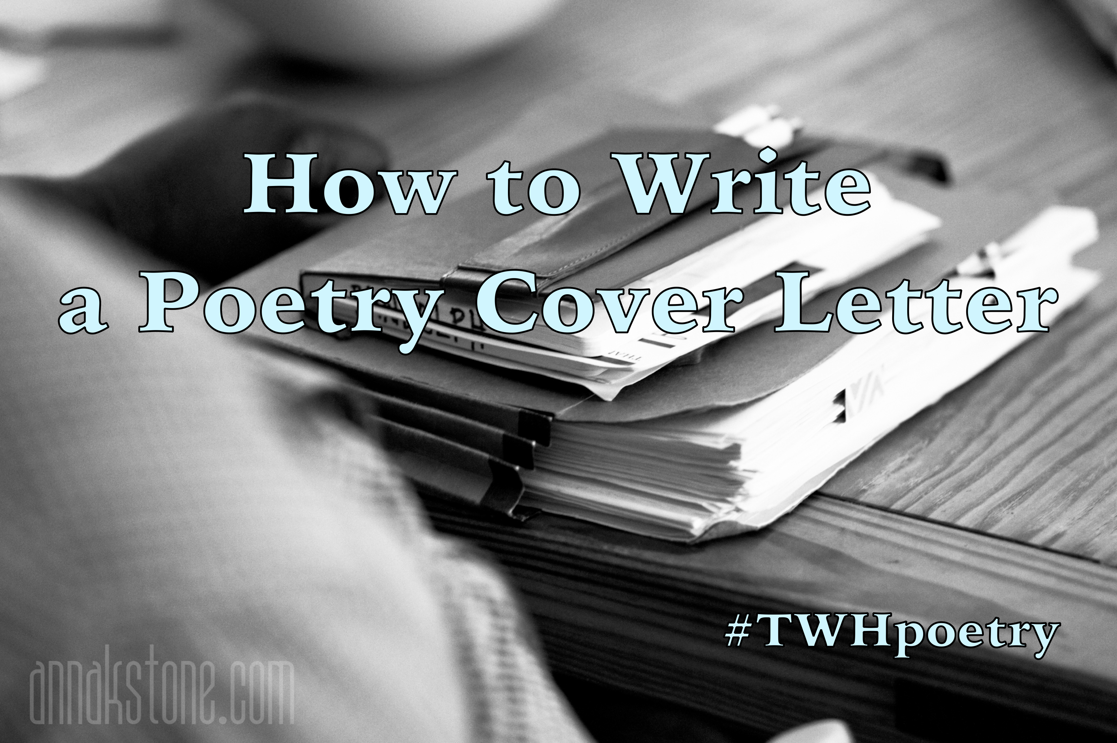 How to Write a Poetry Cover